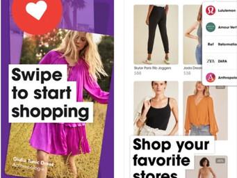Swipe right or swipe left to shop, not date