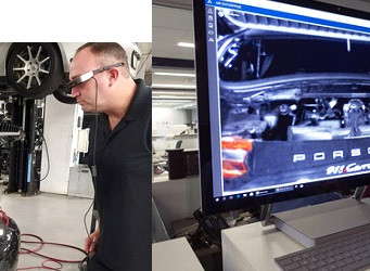 Porsche speeds up service by implementing augmented reality smart glasses in dealerships