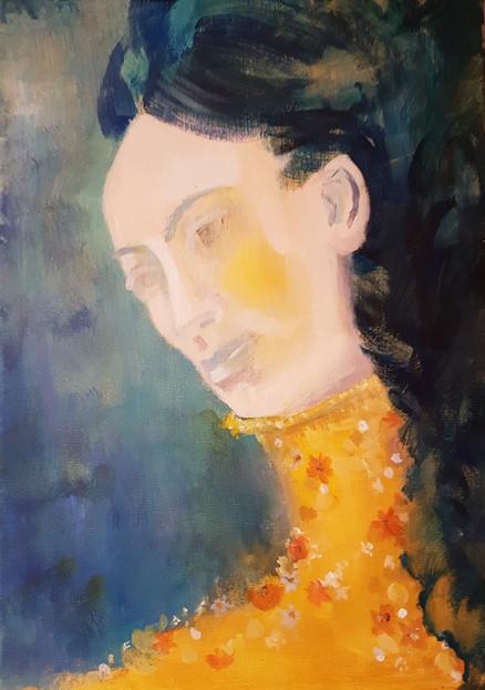 Yellow Flowered Collar