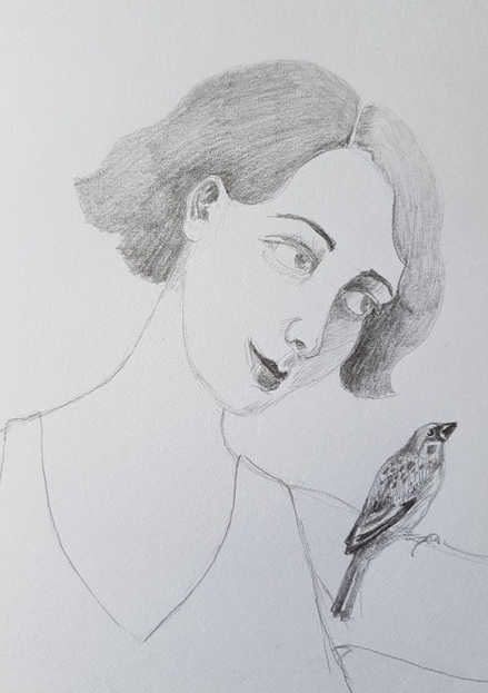 Girl and Sparrow