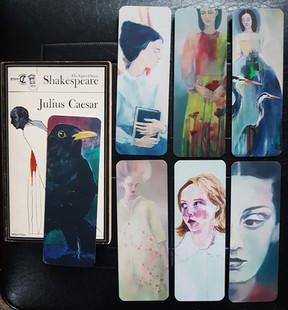 Seven bookmark designs