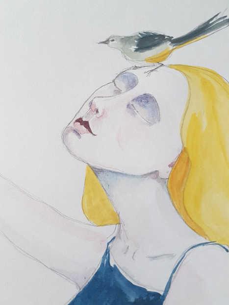 Girl and Grey Wagtail