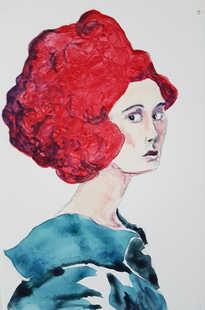 Alizarin (Little Big Hair portrait)