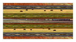 train & cows blanket