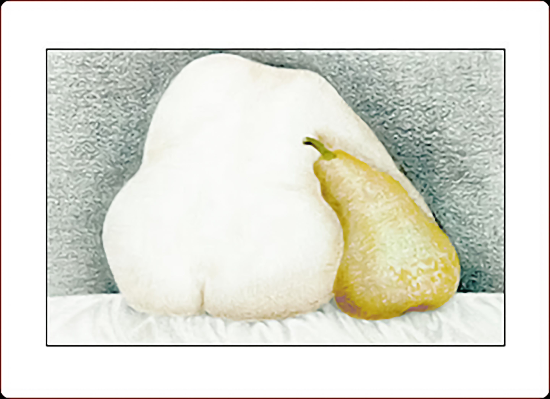 woman w pear