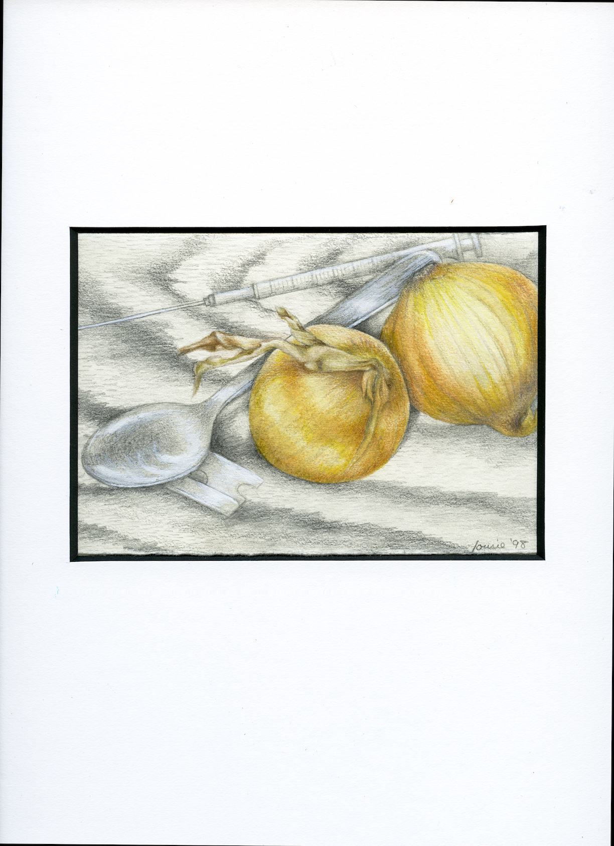 needles & onions-13x9-colored pencil