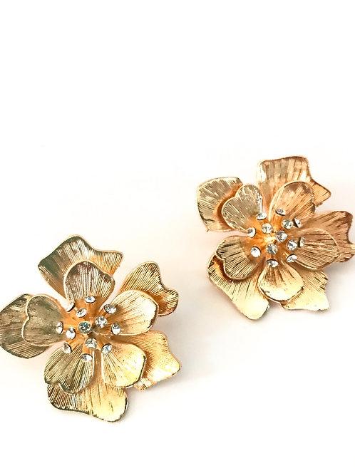 Pendiente Flor dorada