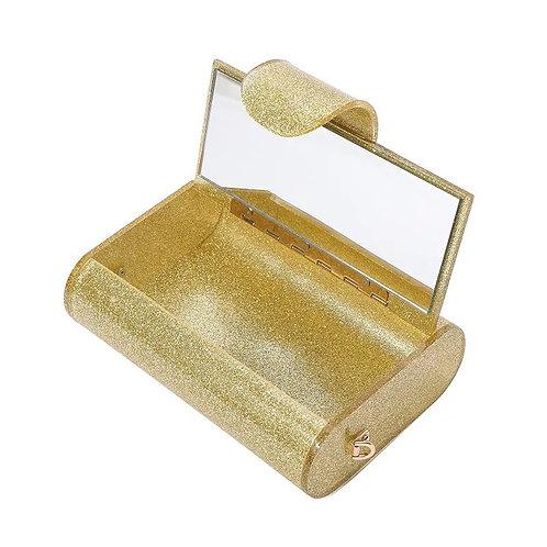 Clutch nacarado glitter