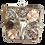 Thumbnail: Clutch Pedreria Elefante Plateado tonos rosados