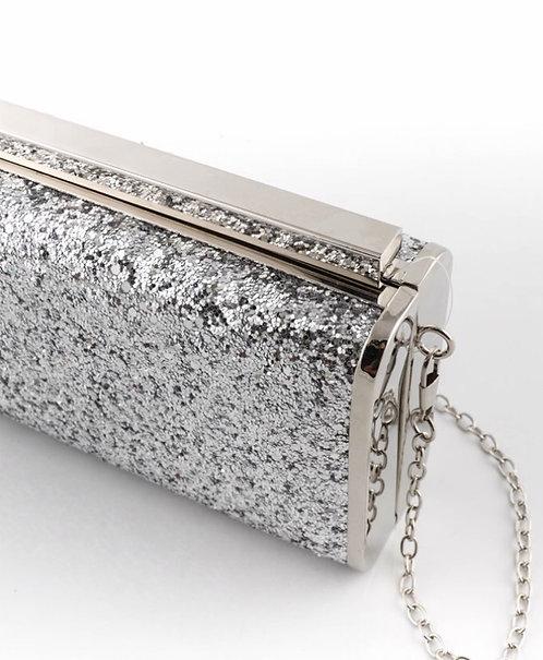 Clutch Glitter Plata