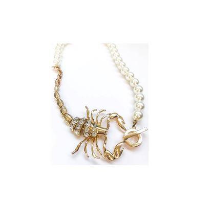 Collar escorpion con perlas