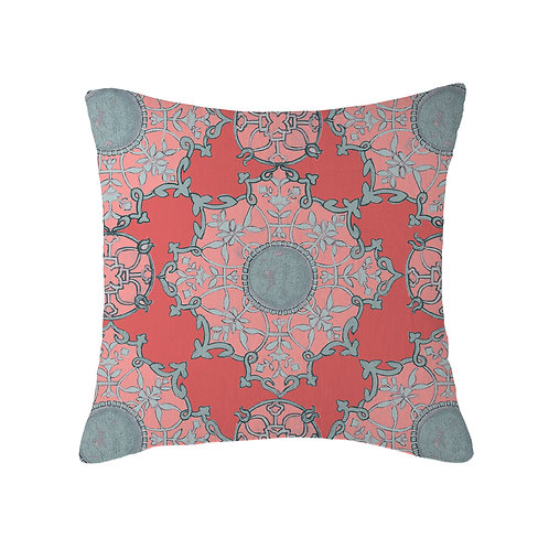 Amber Palace Large Cushion 07 Coral Peach