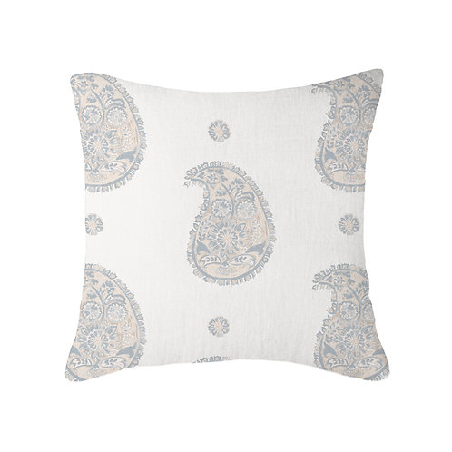 Paisley Nine Muses Cushion 07 Flax