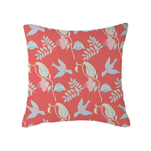 Mexican Bird Reverse Cushion 04 Peach