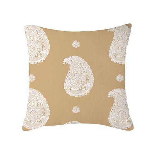 Paisley Nine Muses Cushion 03 Caramel