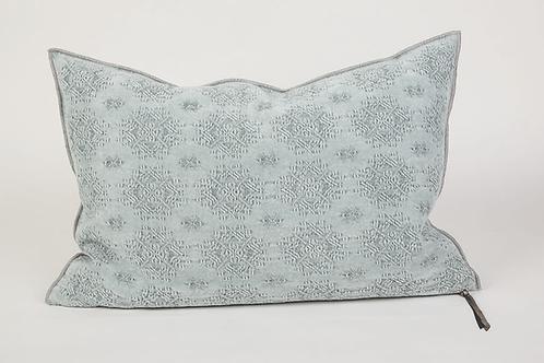 Aqua Jacquard Kilim Cushion