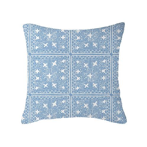 Quilt Reverse Cushion 06 Periwinkle
