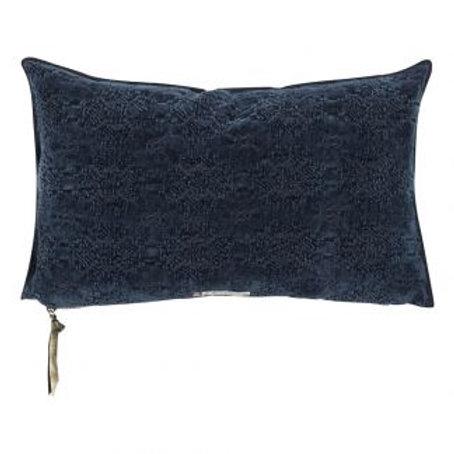 Bleu Nuit Jacquard Kilim Cushion
