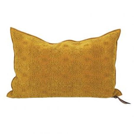 Ocre Jacquard Kilim Cushion