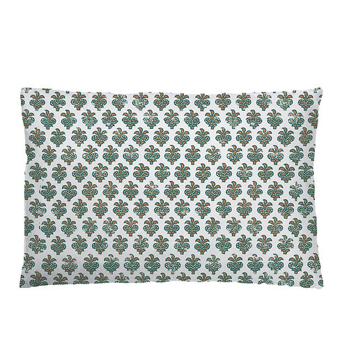 Block Cushion 03 Blue Green