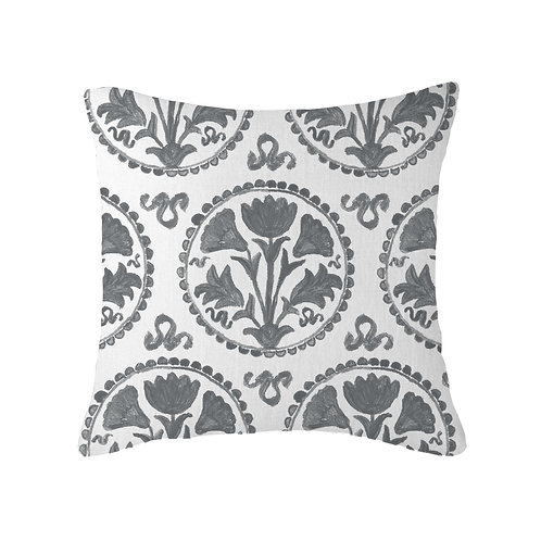 Greek Plate Cushion 02 Charcoal