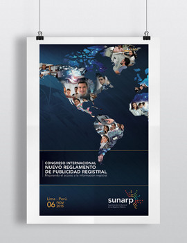 Diseño afiche y piezas campaña congreso- Sunarp