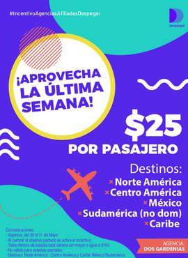 Aviso campaña - Despegar Perú