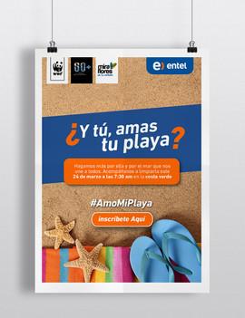 Poster campaña #Amomiplaya - Entel