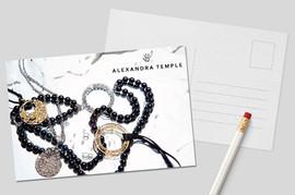 Diseño postales - Alexandra Temple Joyas