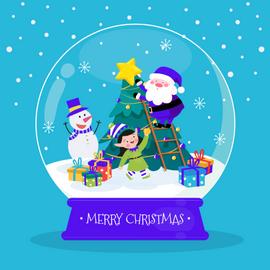 Tarjeta navideña - Despegar