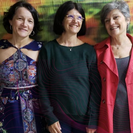 Jussara Xavier, Vera Torres e Sandra Meyer