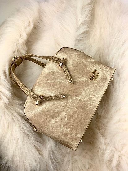 Мини бежова чанта