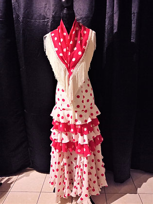 Robe flamenca à pois + châle