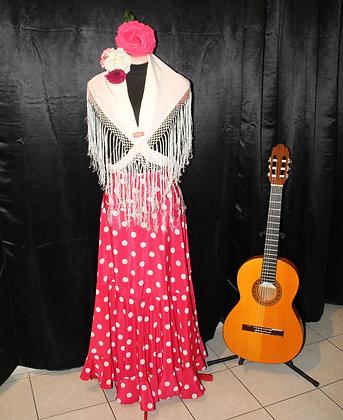 Jupe flamenca à pois (châle non compris)