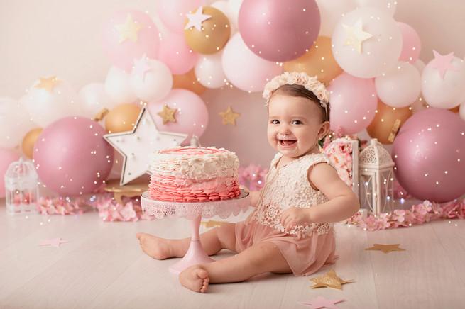 fotografia de smash cake