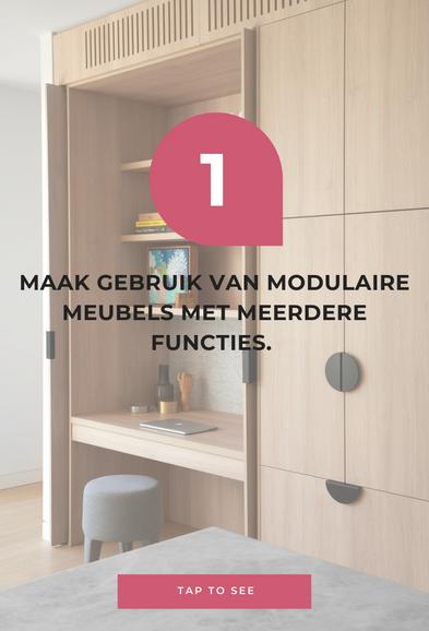 Maak gebruik van modulaire meubels met meerdere functies