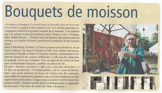 article tressage de paille village magaz