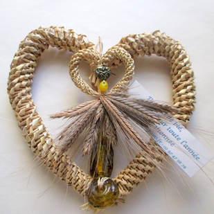 Coeur des moissons porte-bonheur (perles de verre de Syrie)