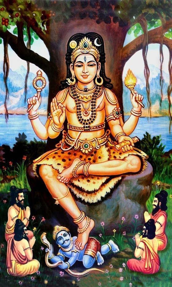 WHAT IS THE MYSTERY OF SRI DAKSHINAMURTY,THE DEPICTION OF LORD SHIVA?SHIVA