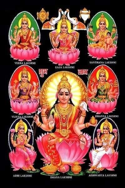क्या है धन समृद्धि की देवी लक्ष्मी के आठ स्वरूप की छवियाँ?