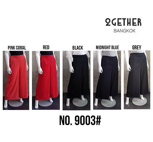 No. 9003# กางเกงเอวสูงขายาว (ซิปข้าง / กระเป๋าข้าง)