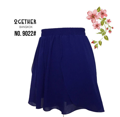 No.9022# กางเกงกระโปรงชีฟอง(ซับกางเกง)