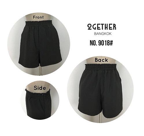 No.9018# กางเกงขาสั้น สม๊อครอบ (มีซิปข้าง)