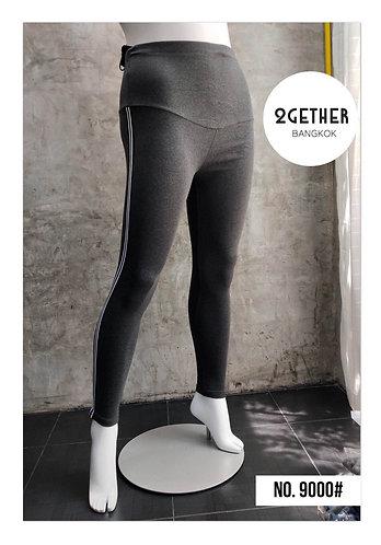 No.9000# กางเกงเลคกิ้งคนท้อง/คนอ้วนแบบแถบข้าง