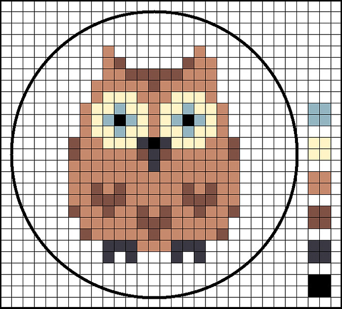 cross stitch owl chart
