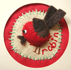 mini robin christmas card craft project
