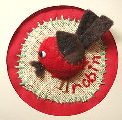 mini robin christmas card craft project
