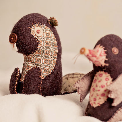 mole and beaver softie sewing patterns