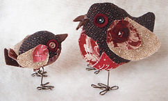 Robin christmas decoration softie sewing pattern with wire legs