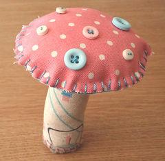 toadstool handmade softie